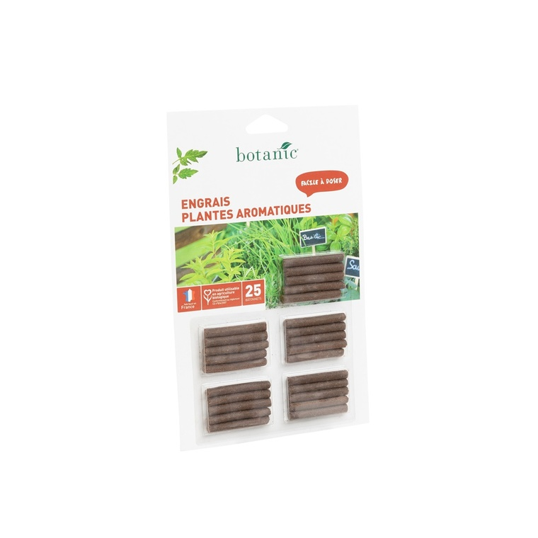 Engrais plantes aromatiques bâtonnets botanic® 418563