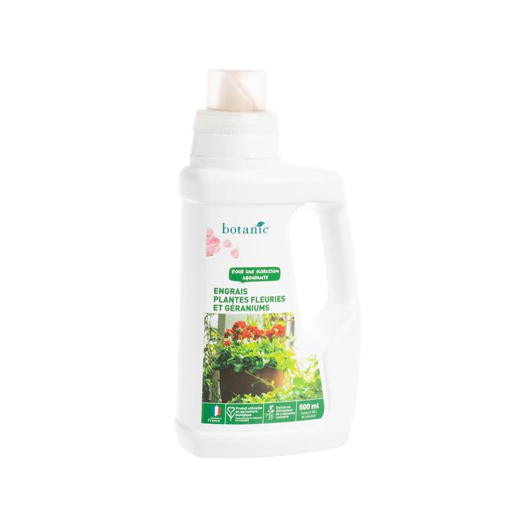 Engrais géraniums et fleurs 500 ml botanic® 418600