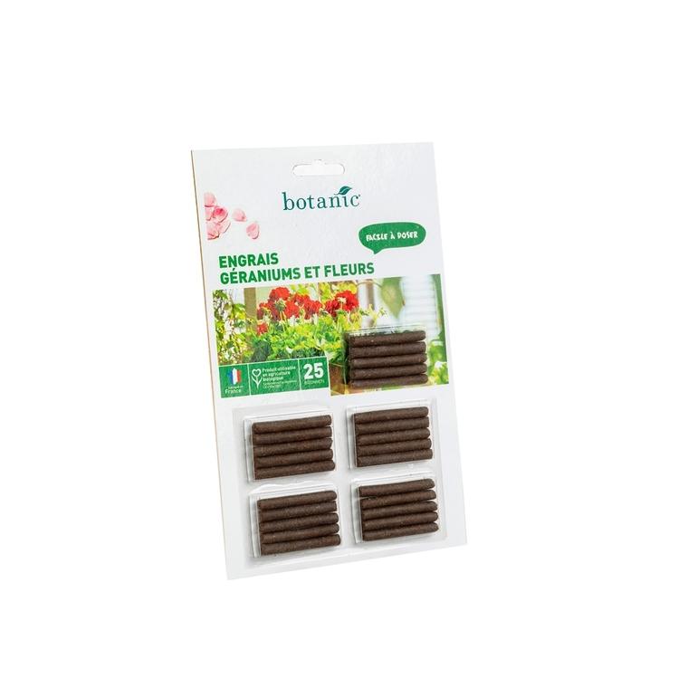 Engrais géraniums et fleurs botanic® bâtonnets 418602