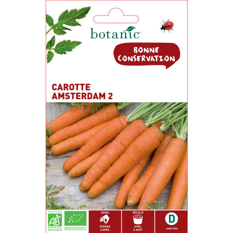 Graines de Carotte Amsterdam 2 bio en sachet 419328