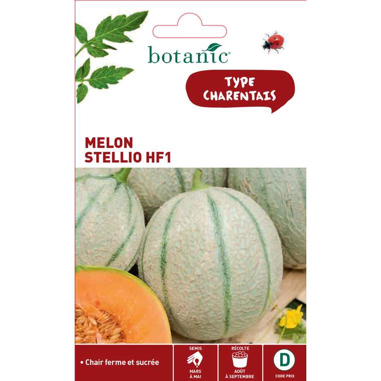 Graines de Melon Stellio hybride F1 en sachet 419344
