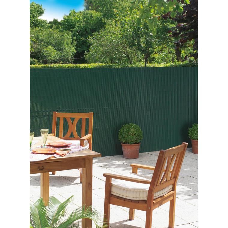 Canisse Plasticane vert double face PVC 13 mm 300x150 cm 419699