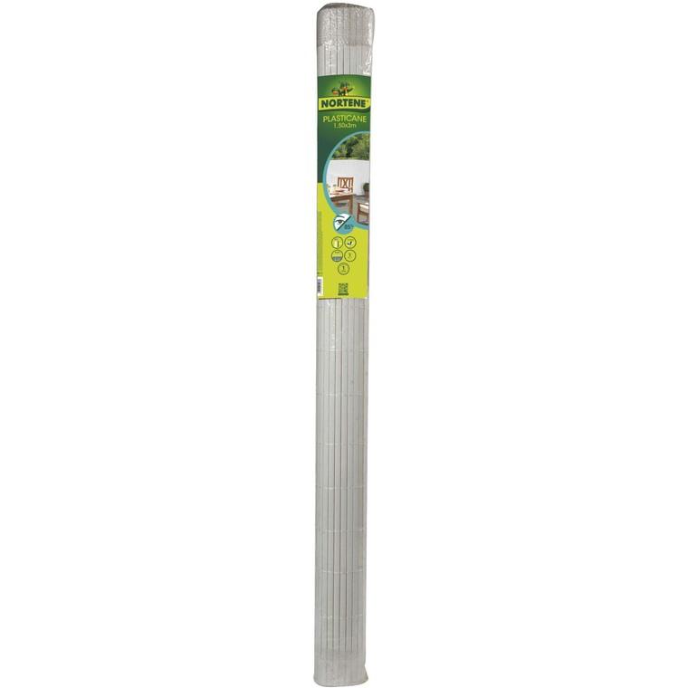 Canisse Plasticane blanc double face PVC 13 mm 300x150 cm 419703