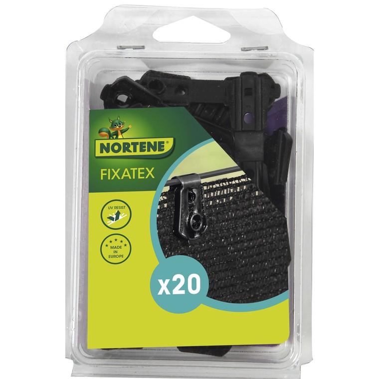 Clip de fixation Fixatex pour Natte noir 34x20 cm 419724