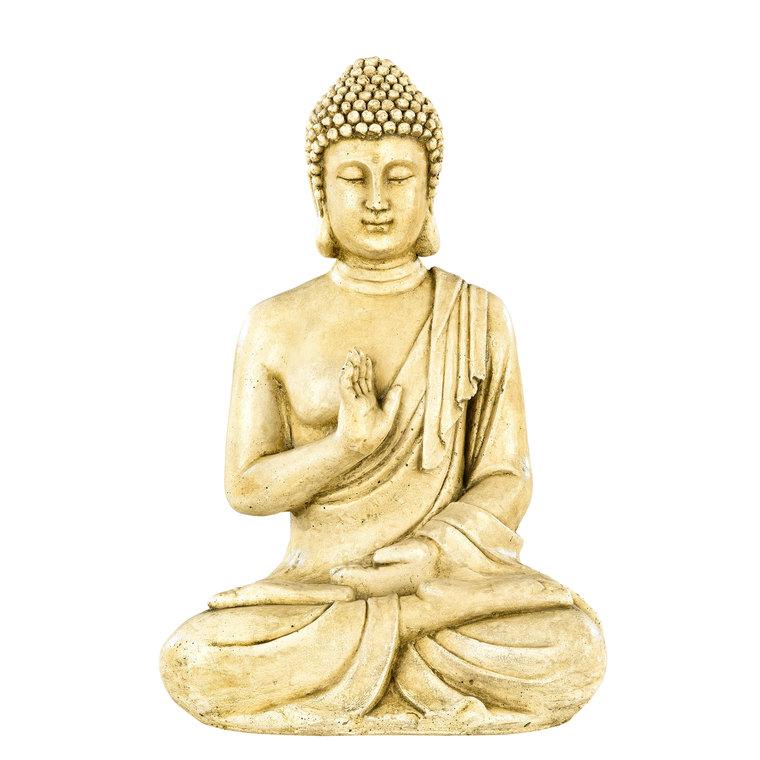 Statue de jardin Bouddha hindou en béton coulé H 40,5 cm 419882