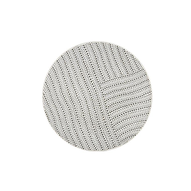 Assiette plate icos en grès blanc Ø 27 cm 420316
