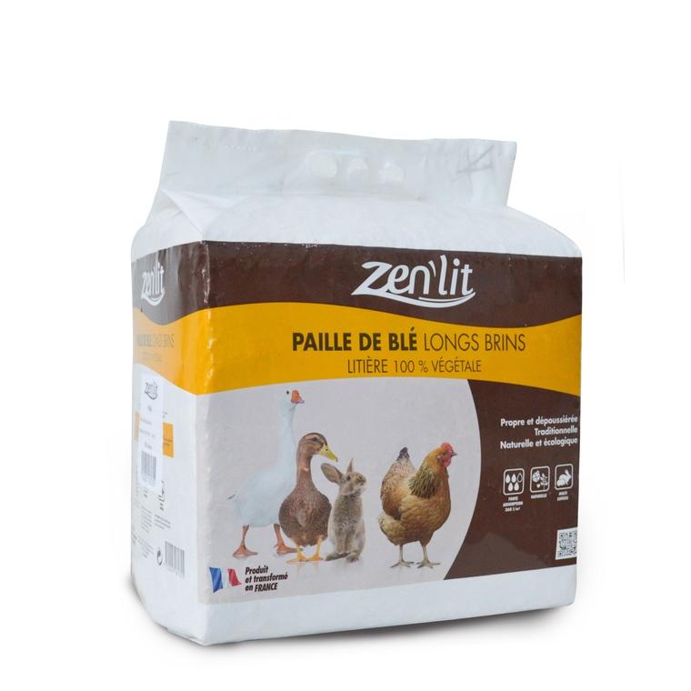 Paille de blé en brin long en sac de 6 kg 420728