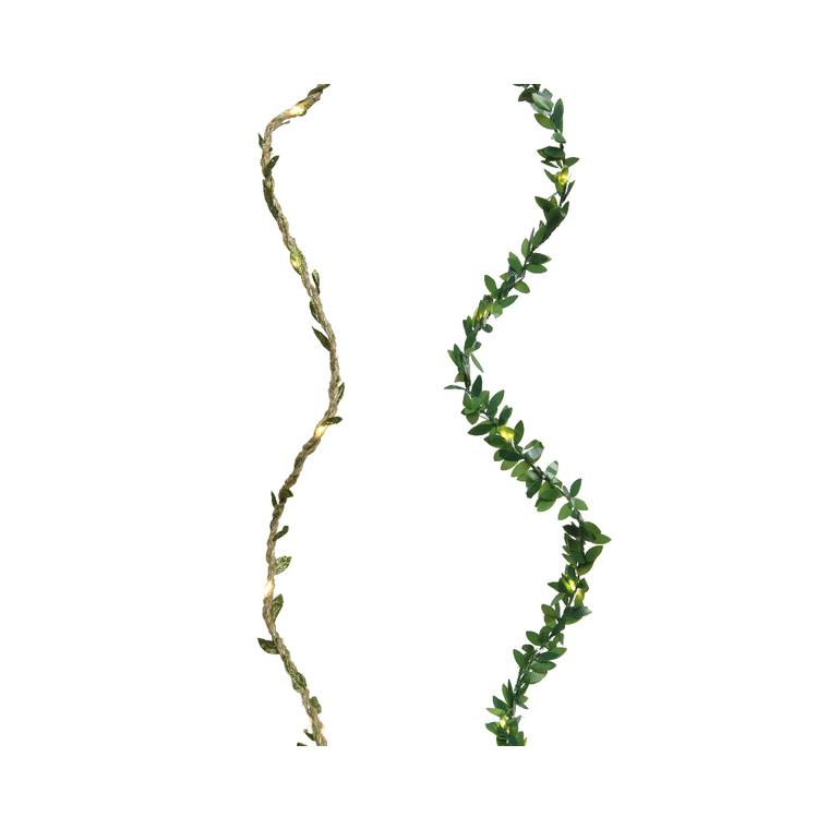 Guirlande lumineuse Feuille à micro Led pour l'intérieur à pile 421034