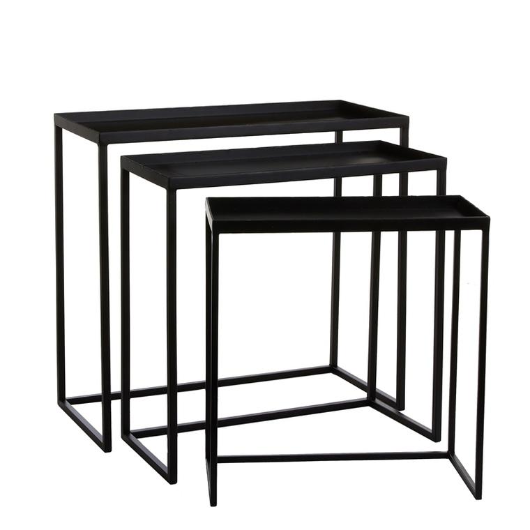 Table gigogne noire grand modèle 58 x 27 x H 55 cm 421723