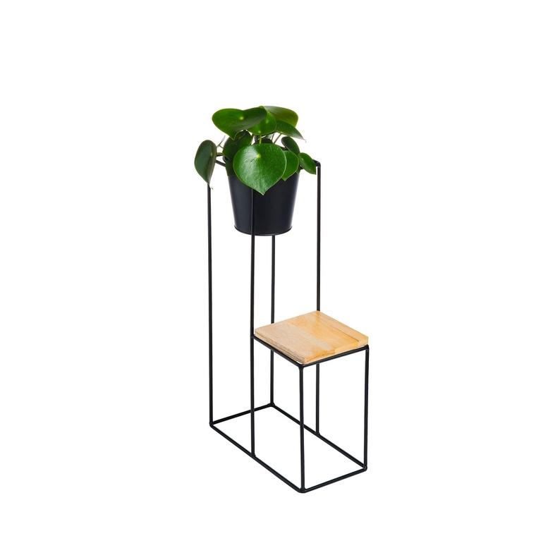 Porte plante caitlin petit modèle avec cache-pot 31 x 15 x 55 cm 422082