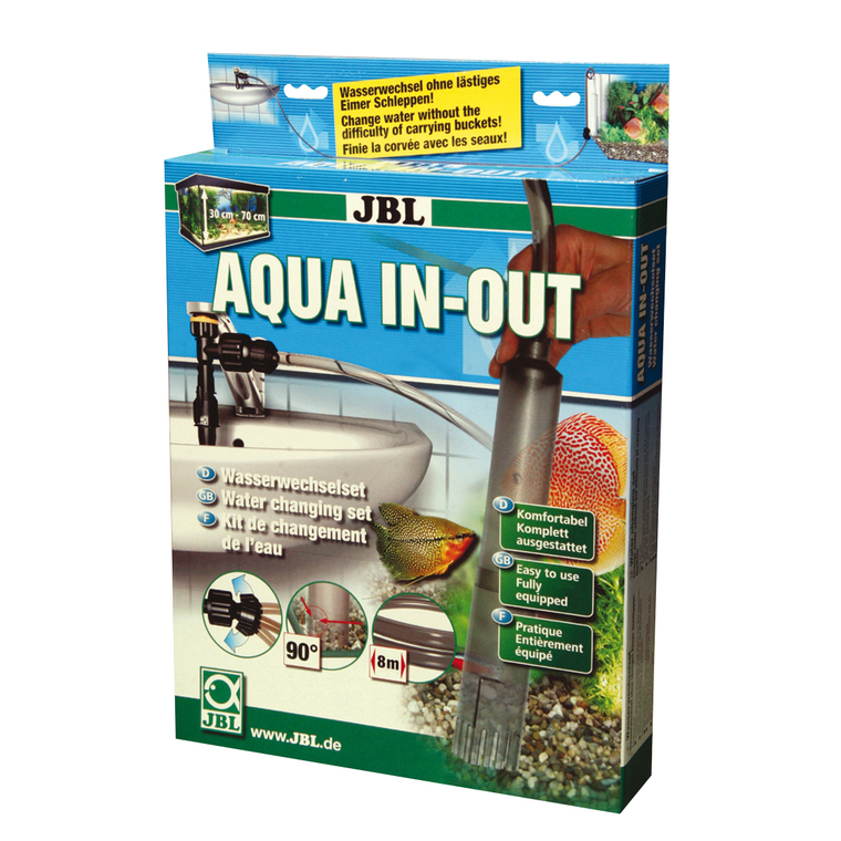 Kit complet de changement d'eau pour aquarium Aqua In-Out 423595