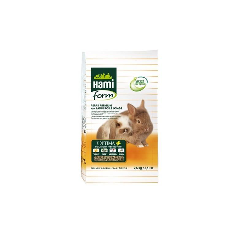 Repas premium lapin nain poils long Hamiform 2.5 kg 423850