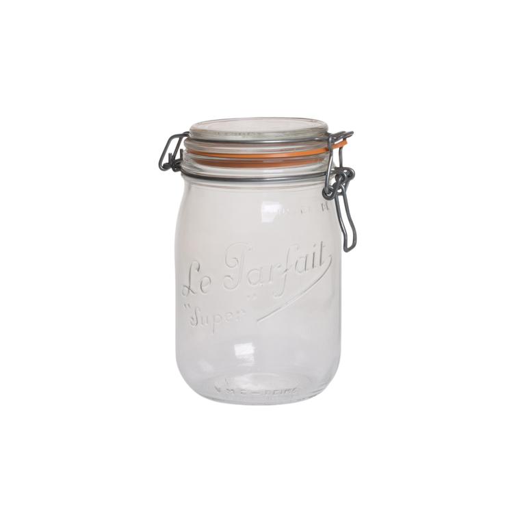 Pack de 6 bocaux en verre 1 litre Fido 424344
