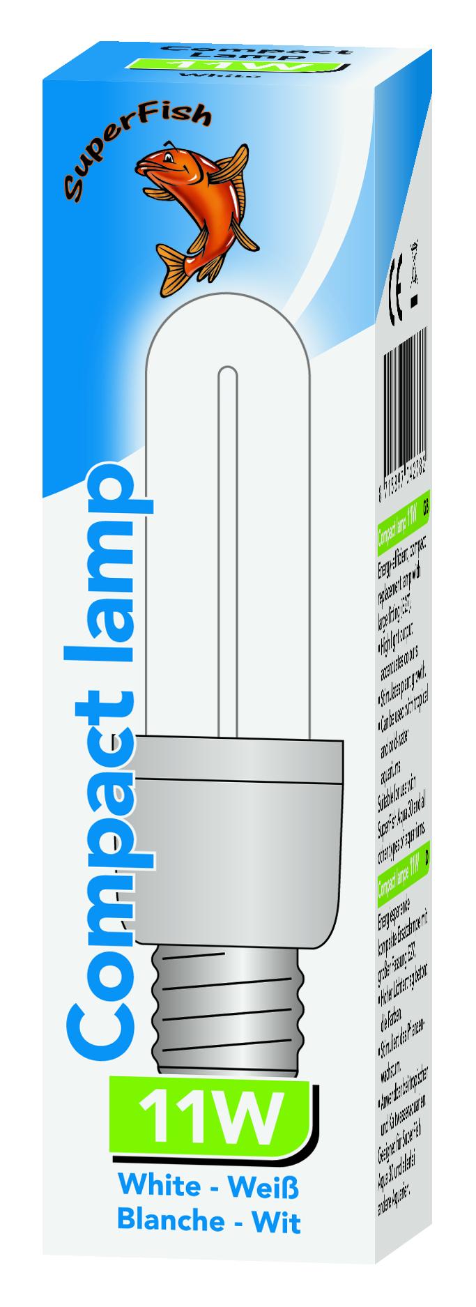 Ampoule lampe fluo compact 11 watts Aqua distri
