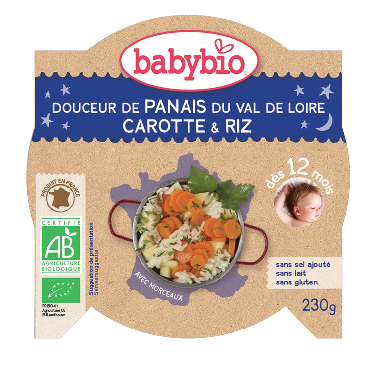 Bonne Nuit panais-carotte et riz bio 230 g