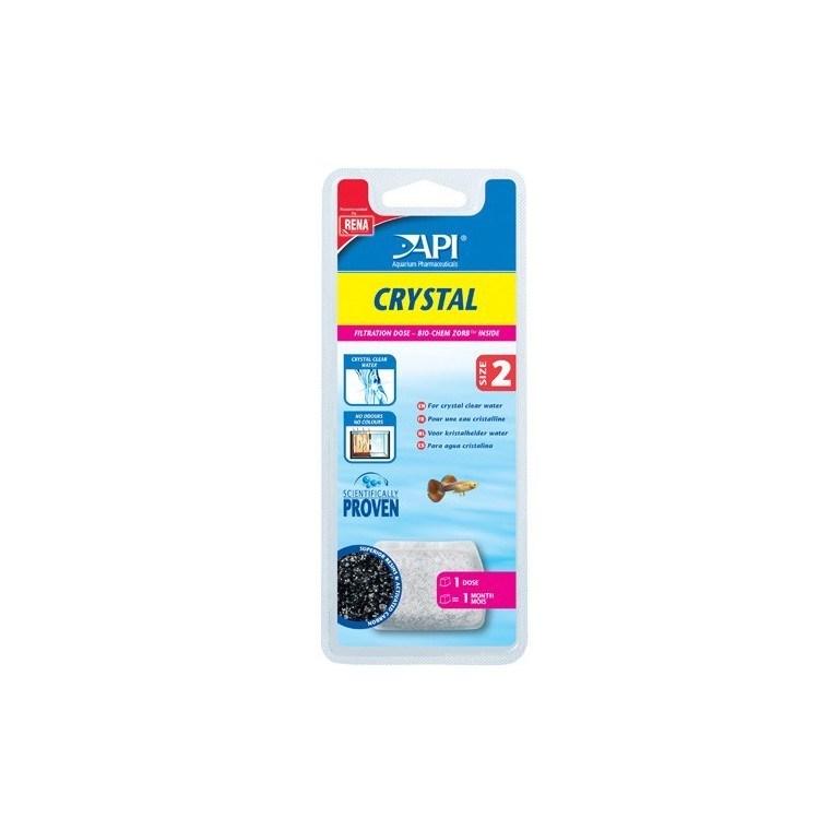 Recharge Filtre aquarium API Rena Crystal taille size 2 x1
