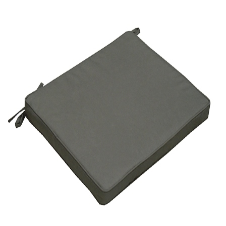 Assise de chaise Monte Carlo gris Ardoise en polyester 426425