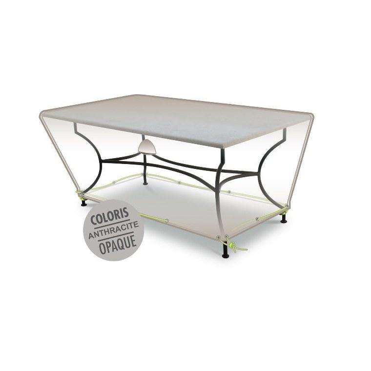 Housse table rectangulaire 4-6 pers. de coloris anthracite en polyester 427463