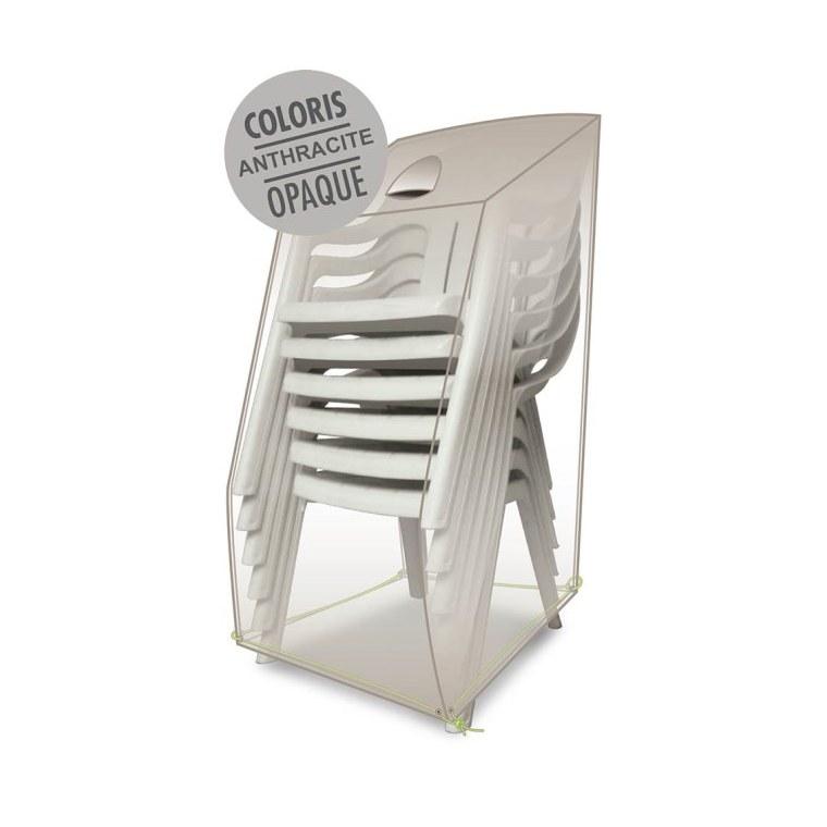 Housse table rectangulaire 8-10 pers. de coloris anthracite en polyester 427467