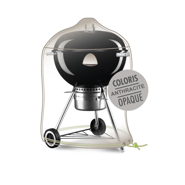 Housse barbecue rond Ø 70 cm de coloris anthracite 427475