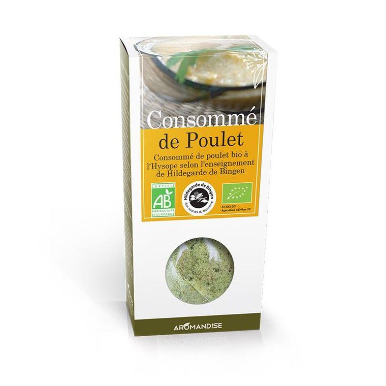 Consommé de poulet bio en boite de 180 g 434540