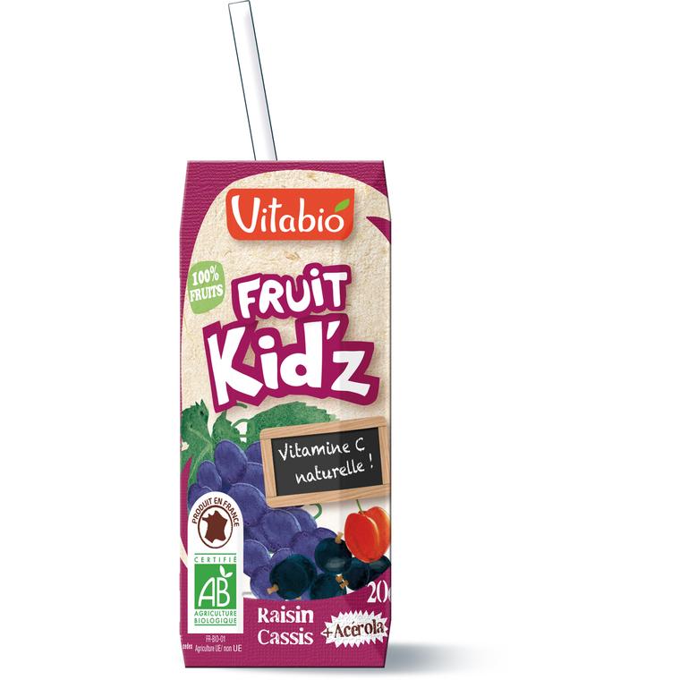 Jus fruit bio Kidz Rouge 3 x 20 cl