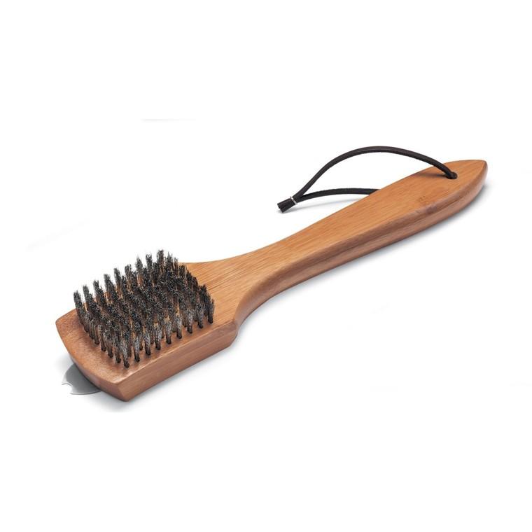 Petite brosse manche en bois Weber