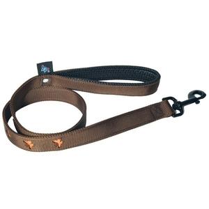 Laisse chien motif papillon 25 mm / 100 cm marron