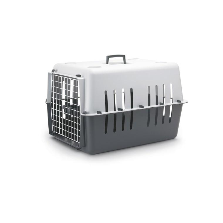 Panier transport 66cm plastique Pet Carrier gris 440452