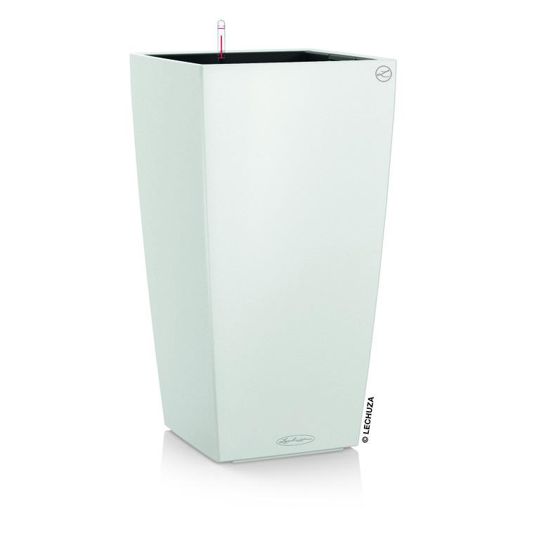 Pot à réserve d'eau Cubico Blanc L.40x40 x H.75 cm 441340
