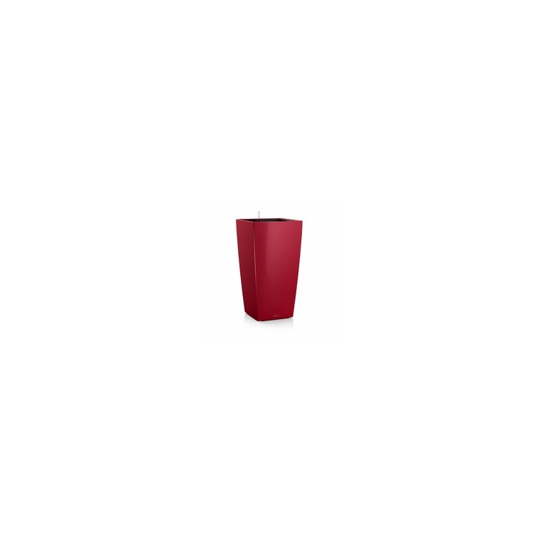 Pot à réserve d'eau Cubico Rouge scarlet L.30x30 x H.56 cm 441356