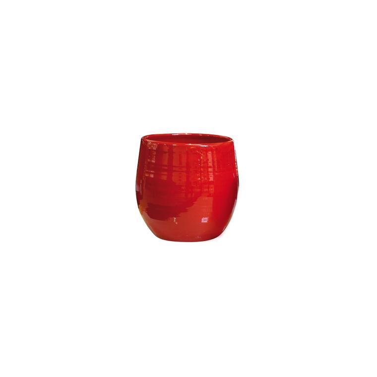 Pot Cancale coquelicot en terre cuite émaillée H 17 x Ø 17 cm 442221