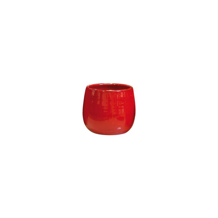 Pot Cancale coquelicot en terre cuite émaillée H 21 x Ø 21 cm 442222