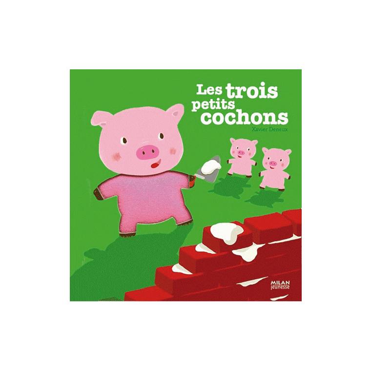 Les 3 Petits Cochons Contes et Comptines à Toucher 1 à 3 ans Éditions Milan 442338