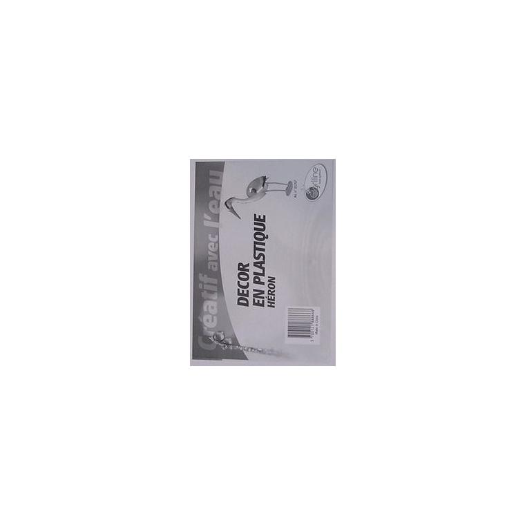 Héron en plastique 22x16x80 cm 44335