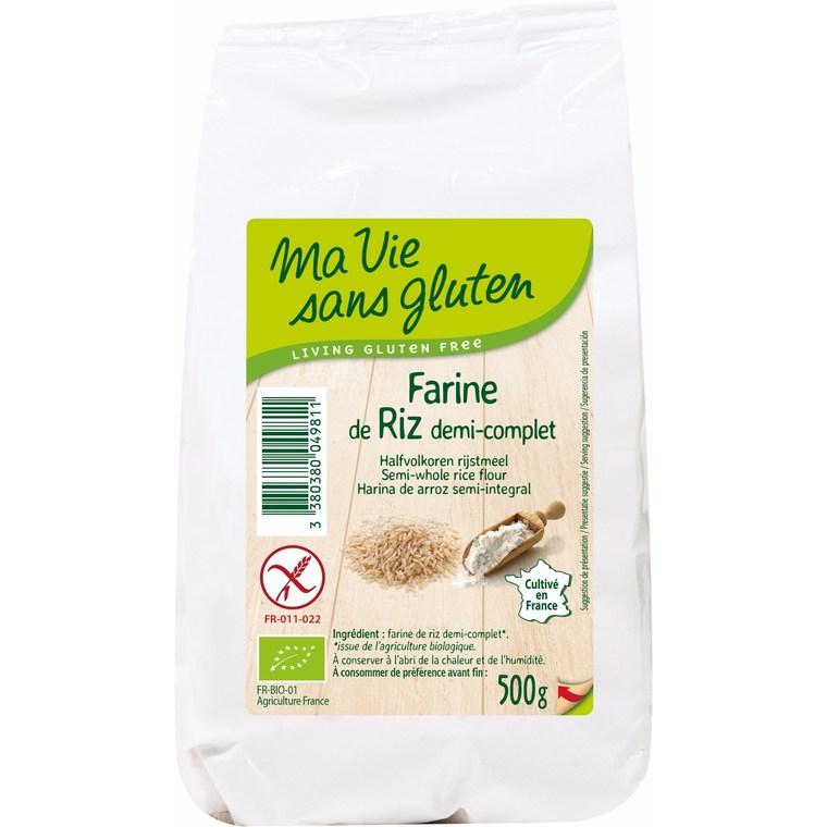 Farine de riz demi-complet 500 g 447989