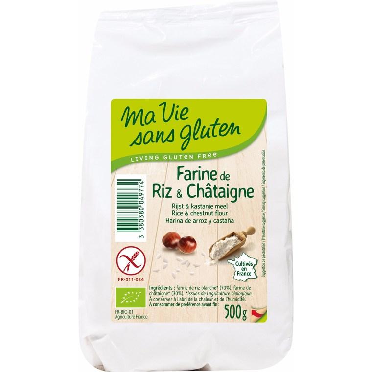 Farine de riz et châtaigne sans gluten 500 g 447990
