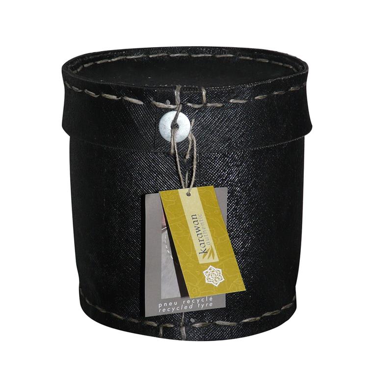 Boîte ronde en pneu couvercle D.15 KARAWAN