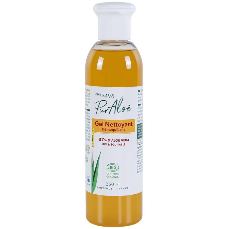 Gel nettoyant bio à l'aloe vera en flacon de 250 ml 448900