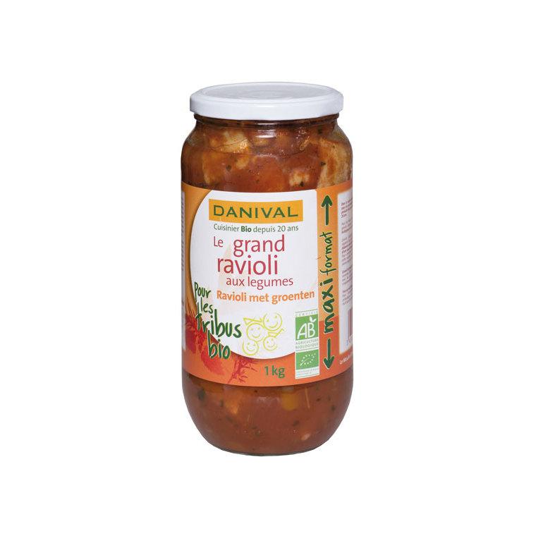 Grand raviolis bio aux légumes 1 kg