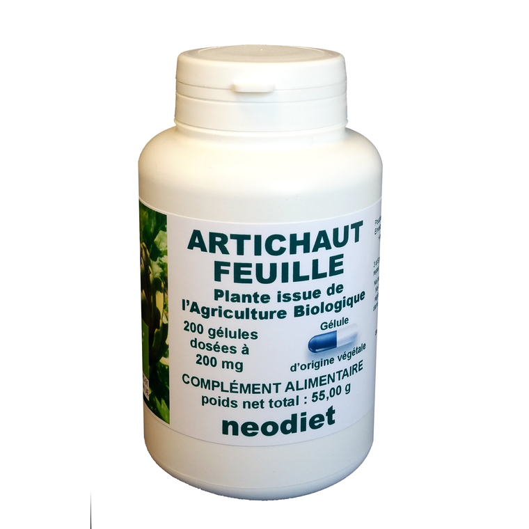 Gélules d'artichaut bio en boite de 200 unités 450754