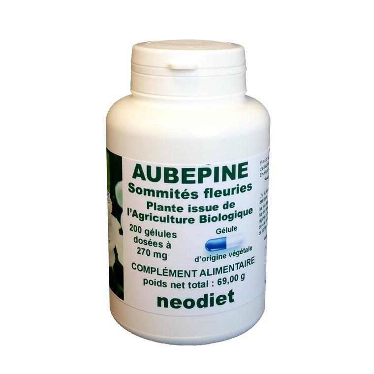 Gélules d'aubépine bio en boite de 200 unités 450755
