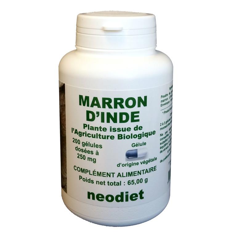 Gélules de marron d'Inde bio en boite de 200 unités 450779