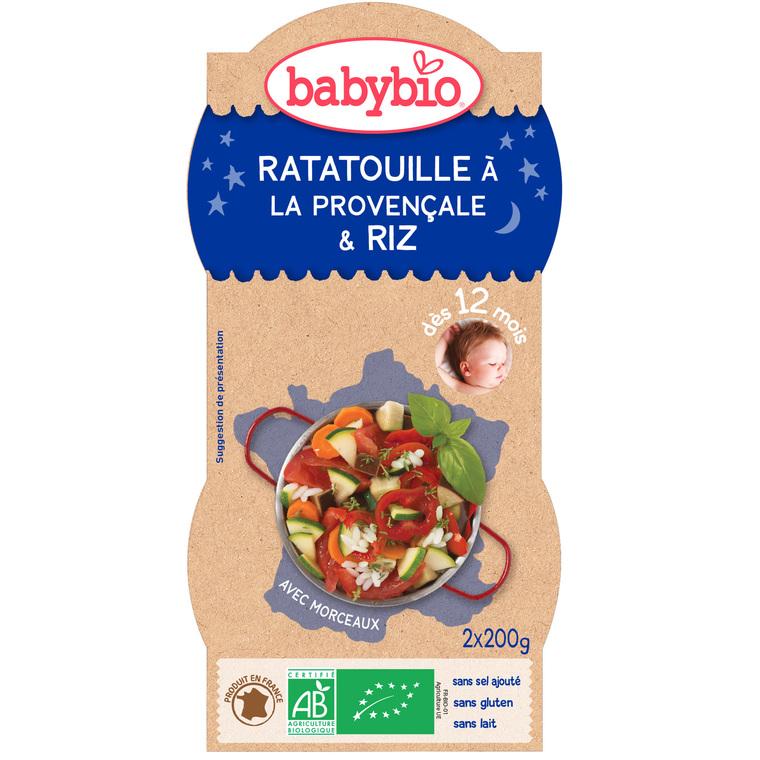 Bonne Nuit Ratatouille et Riz bio dès 12 mois - 2 x 200 gr