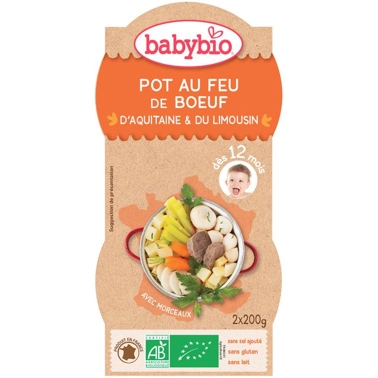 Menu du jour Pot au Feu Bœuf bio dès 12 mois – 2 x 200 gr 45212