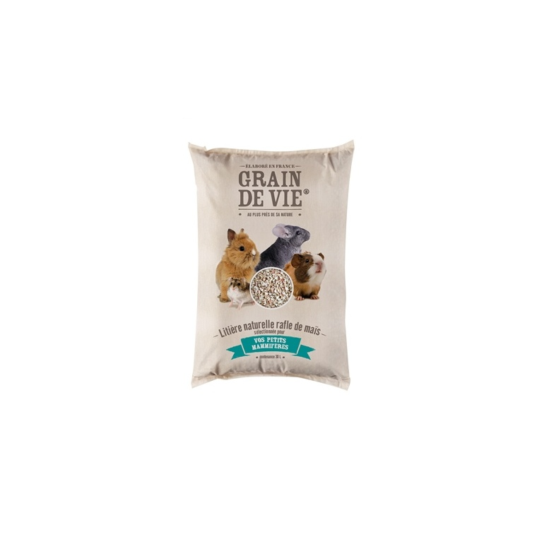 Litière de rafle de maïs en sac de 30 L