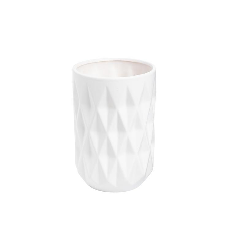 Vase en céramique blanc grand modèle 463697