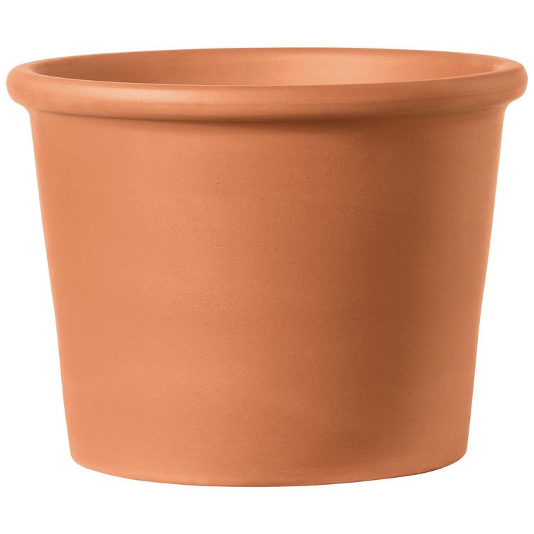 Vase cylindrique rouge en terre cuite D18 x H13,5 465202