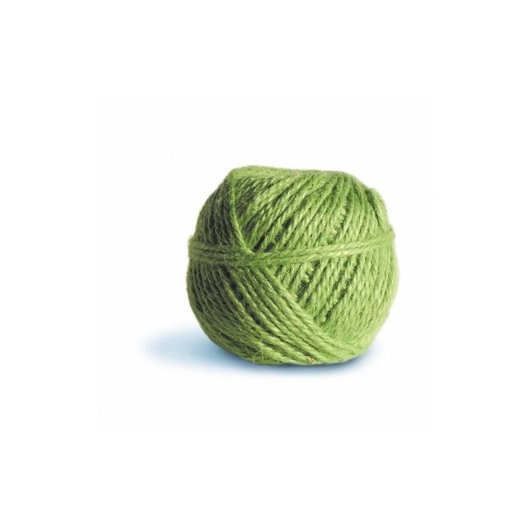 Pelote ficelle en jute couleur pomme - 100 gr / 75 m 466527