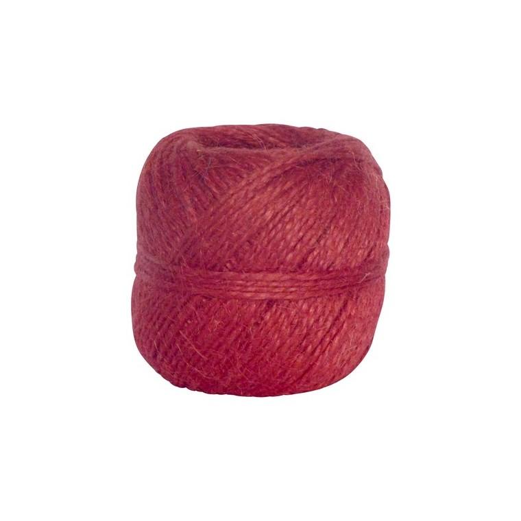 Pelote de ficelle naturelle Couleur Framboise - 100 gr / 75 m 466529